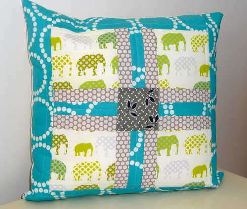elephant pillow | by small quilts