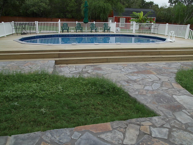 Above ground pool in bexar county flickr photo sharing for Above ground pool decks orlando
