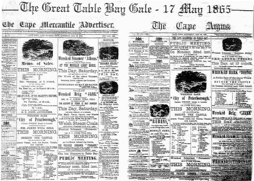 Reports of The  Great Table Bay gale of 1865 | by HiltonT