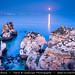 Portugal - Moon Rise over Cliffs at Ponta da Piedade (Piety Point) near Lagos - Algarve