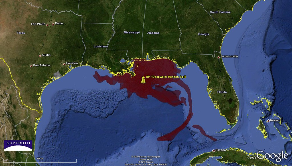 Deepwater Horizon Oil Spill - Cumulative Oil Slick Footpri ...