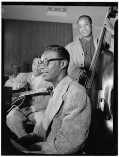 [Portrait of Oscar Moore, Nat King Cole, and Wesley Prince, New York, N.Y., ca. July 1946] (LOC) | by The Library of Congress