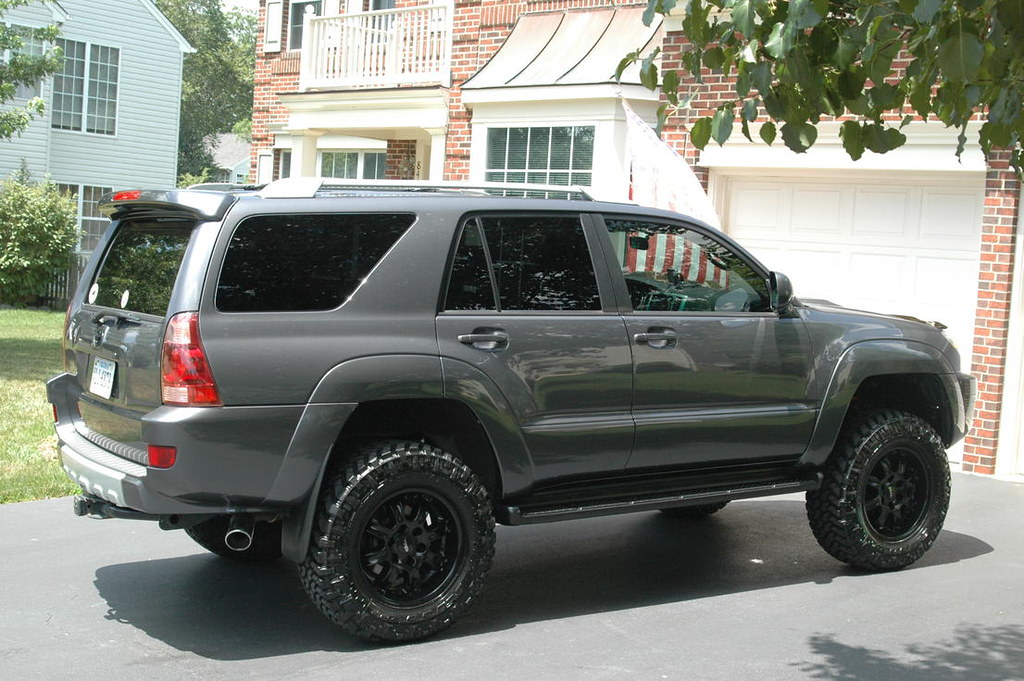 Awesome 4runner Galactic Grey Blk Powdercoated Trd 18x9