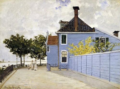La maison bleue zaandam c monet w 184 huile sur toile flickr - Maison bleue mobel ...