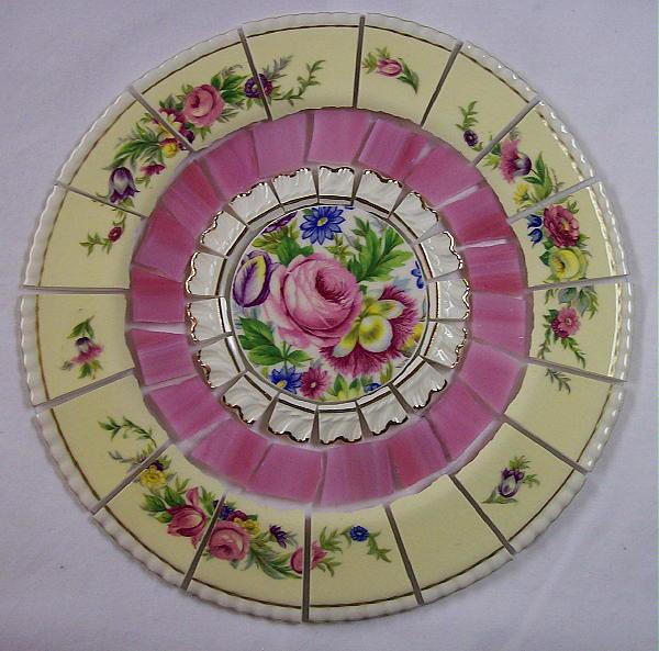 8 1 4 China Mosaic Tile Set Shabby Pink Rose Florals Flickr