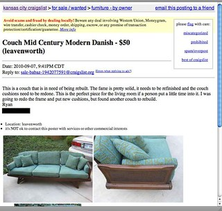 Sofa Ad | by The Noshery