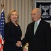 President Shimon Peres meets with US Secretary of State Hillary Clinton in Jerusalem. Photo: Amos Ben Gershom GPO
