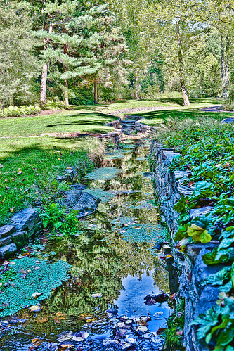 HDR - Chanticleer 09-2010 - Stream Garden | by C. Garison Photography