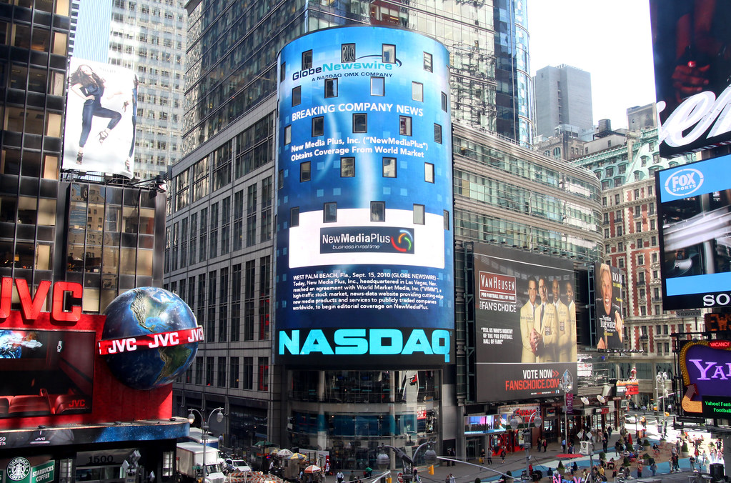 New Media Plus On The Nasdaq Building Last Week New