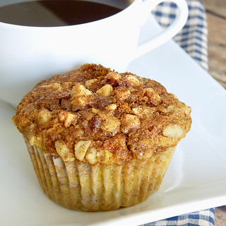 Airhead Apple Muffins with Nutty Topping | by River (Wing-It Vegan)