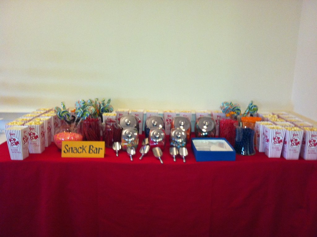 The Candy And Popcorn Bar At Our East Coast Wedding Rec Flickr