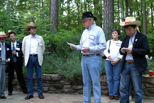 Mayor Bush reads a proclamation at Garvan Gardens | by City of Hot Springs