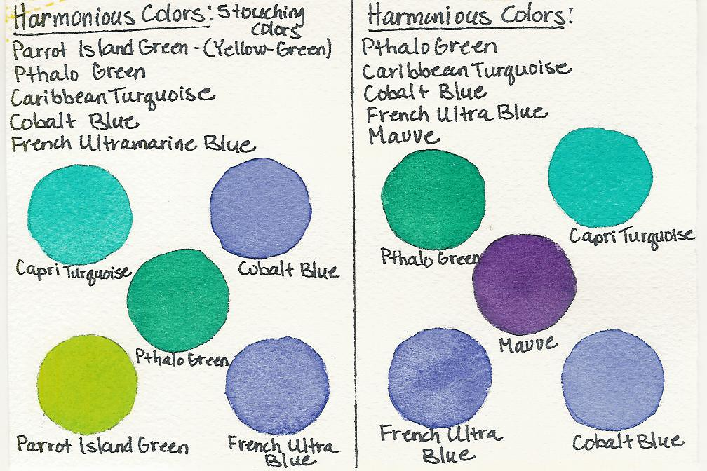 Harmonious Color Chart Harmonious Colors Are Any 5 Touchin Flickr