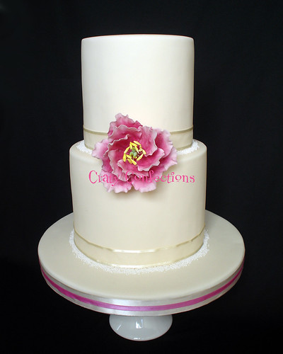 Double-height peony cake | by Crafty Confections