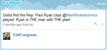 "Ed Martin: Paul Ryan ""is THE man with THE plan!"" 