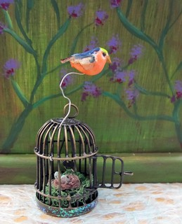 Miniature Birdcage Assemblage | by Enchanticals ~I'm Coming Back