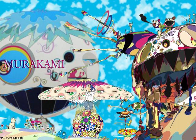 Takashi Murakami Poster Collage Flickr Photo Sharing