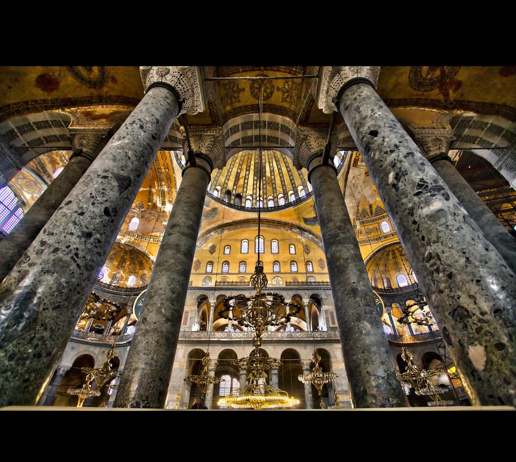 Interior ..... Hagia Sophia (Ayasofya) | One side of Hagia ...