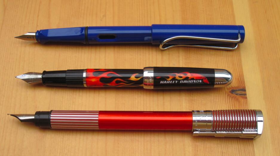 Waterman Harley-Davidson Fountain Pens size comparison | Flickr