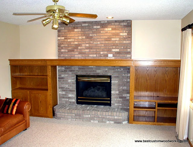 by best custom woodworking custom oak fireplace mantel and bookshelves by best custom woodworking - Fireplace Mantel And Bookshelves