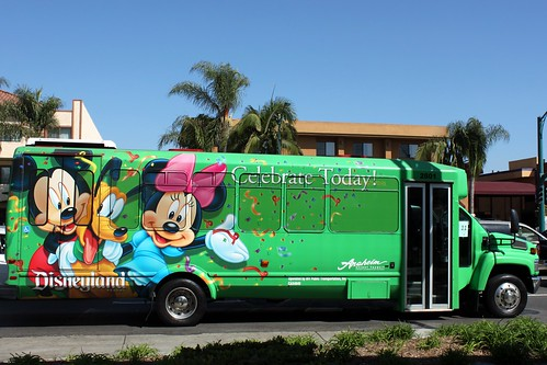 Disney Art Shuttle Bus Anaheim Resorts Transit Art