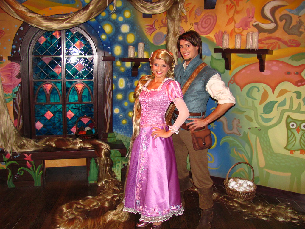 Meeting rapunel and flynn rider at the tangled meet and gr flickr meeting rapunel and flynn rider at the tangled meet and greet in fantasyland kristyandbryce Choice Image