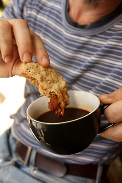 oatmeal cookie and coffee | by David Lebovitz