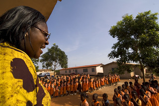 Morning assembly at a primary school | by World Bank Photo Collection