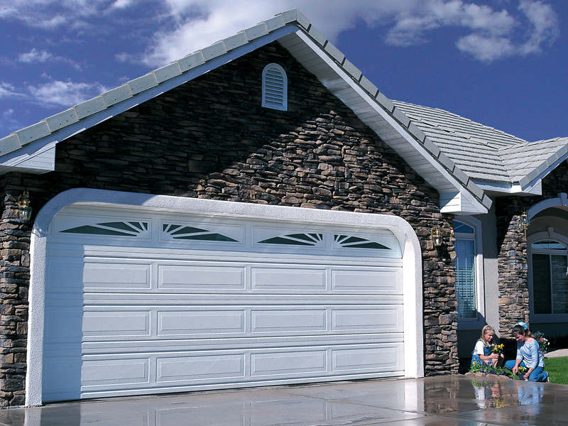 Garage Door And Paint And Streak And Opener And Rail