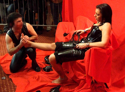 Mistress has her feet smelled and licked by her slave 6