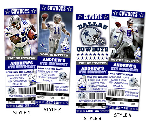 Dallas Cowboys Football Ticket Style- Custom Birthday Invi… | Flickr