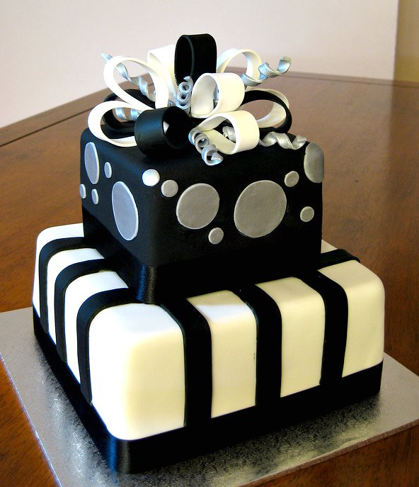 Birthday Cake Pictures Black And White : Black & Silver Present 30th Birthday Cake e b Flickr