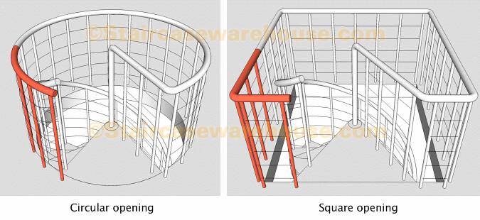 Kloe Landing Balustrade Kit Arke Spiral Stair | Staircase Warehouse | Flickr