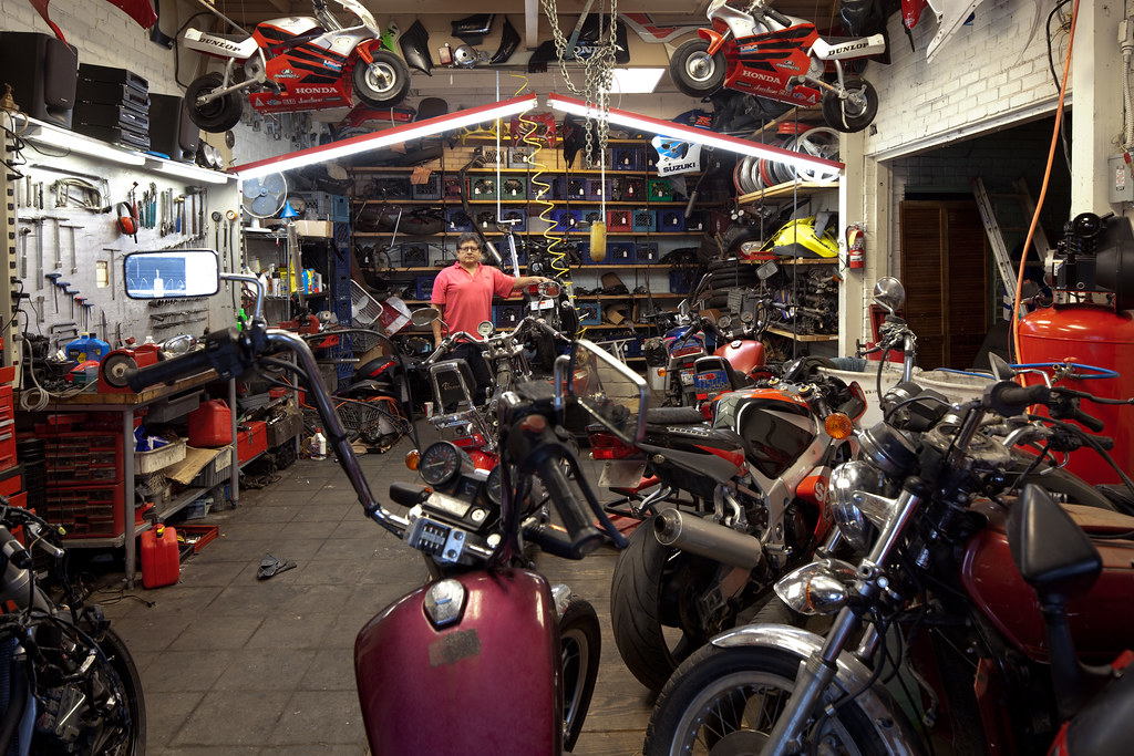 At The Motorcycle Repair Shop David Schalliol Flickr