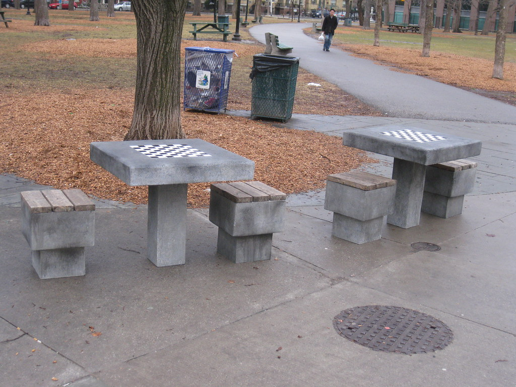 Attirant ... Fake Concrete Chess Tables | By Devilles Workshop