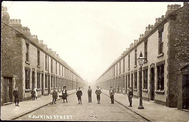 Liverpool c 1900s Postcard - Hawkins Street   .....And ...