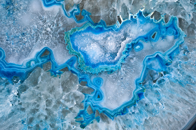 Blue Geode Rock Painting