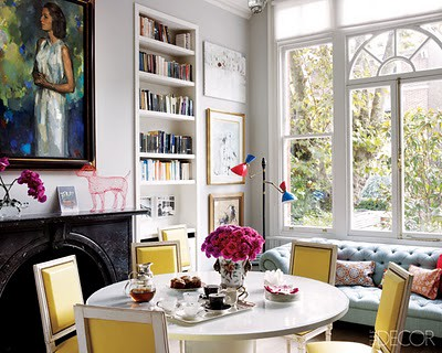 Elle decor dining room the estate of things flickr for Decorating townhouse living room ideas