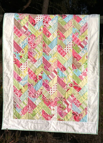 pastel braids baby quilt | by Mrs. Quilts a Lot