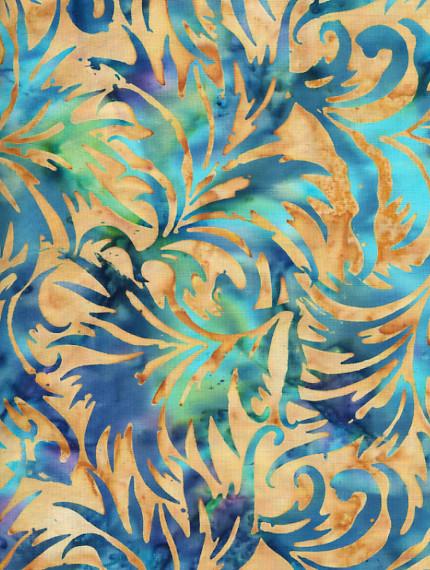 Bali Batik Fabric Midnight Jungle Bali Batik Fabric 100