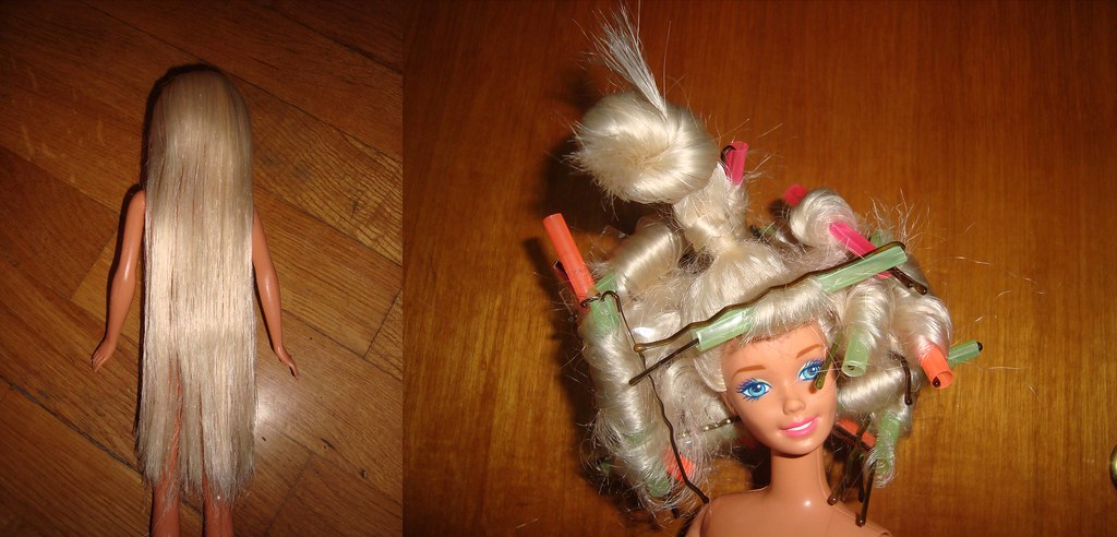 How To Curl Barbie Hair For Patty And Freddycat1 I
