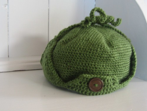 Crochet Deerstalker Hat Pattern : Baby Crochet Deerstalker hat Elaine Flickr