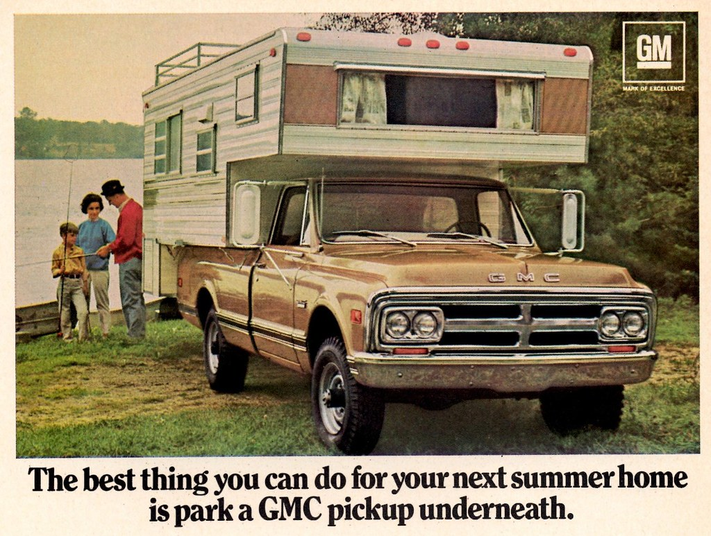 1969 Gmc Truck 1969 Gmc Pickup With Camper Alden Jewell Flickr