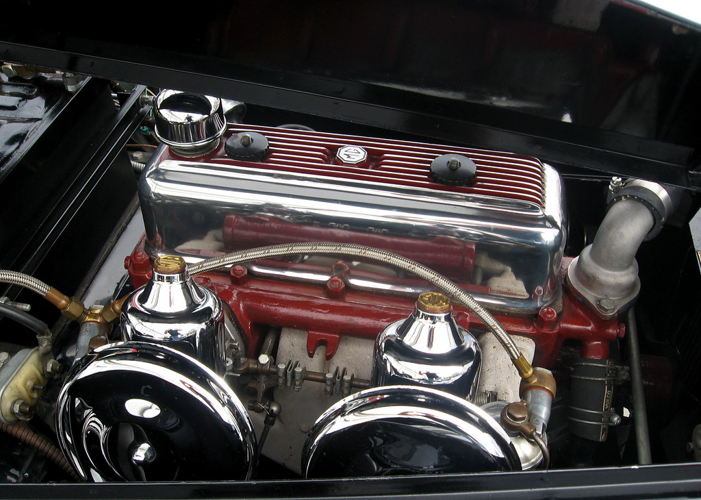 1955 Mg Tf 1500 Midget Engine This Is The Xpeg Engine S Flickr