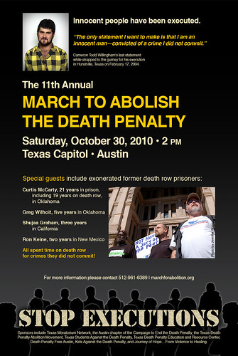 11th Annual March to Abolish the Death Penalty (12 x 18 Poster) | by Texas Moratorium Network (TMN)
