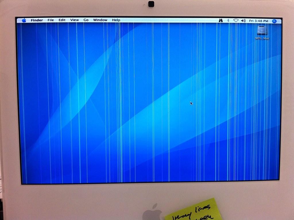 iMac G5 display with v...