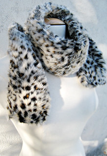faux fur leopard print neck scarf DIY -wrapped | by ...love Maegan