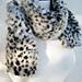 faux fur leopard print neck scarf DIY -wrapped