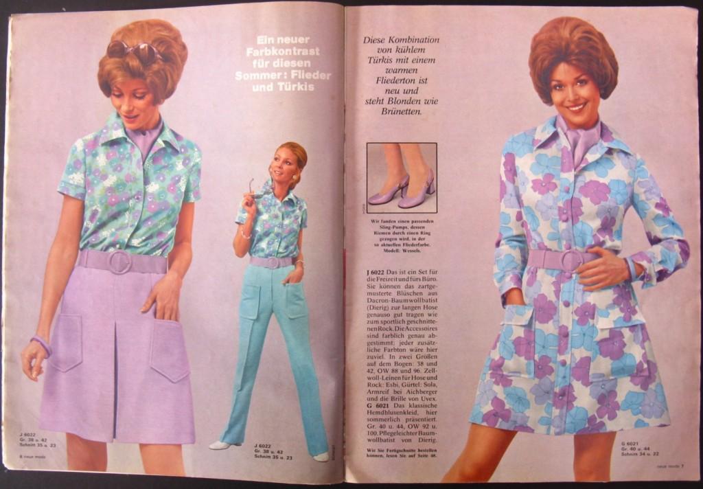 1970 German Fashion Magazine Neue Mode June 1970 Classic Style Of Fashion Third Flickr
