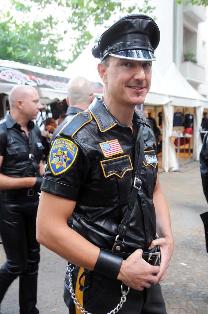 Gay men leather cop xxx robbery suspect